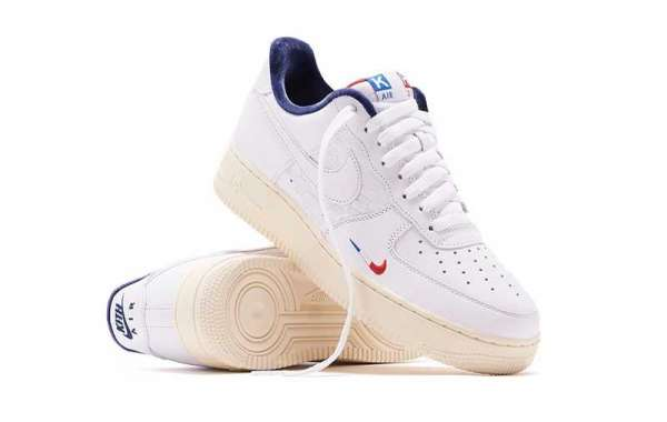 "I like the pair of Kith x Nike Air Force 1 ""France"" CZ7927-100 shoes, how about you?"