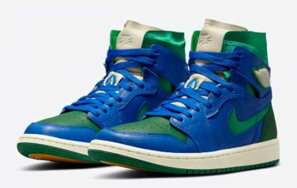 Where To Buy The Aleali May x Air Jordan 1 Zoom Comfort Green/Royal Blue DJ1199-400?