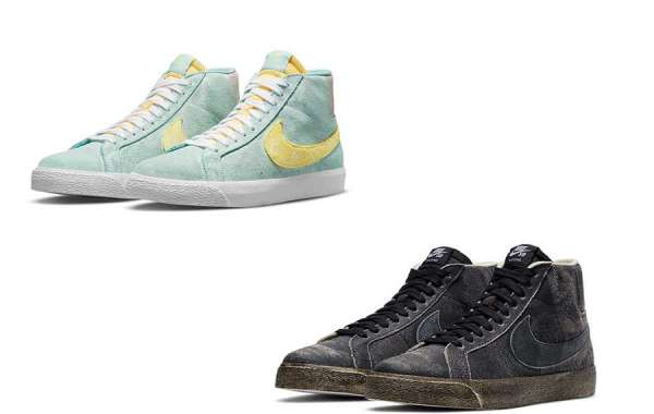 "Nike SB Blazer Mid ""Faded"" DA1839-300&""Faded Black"" DA1839-001 two new colorways on sale"